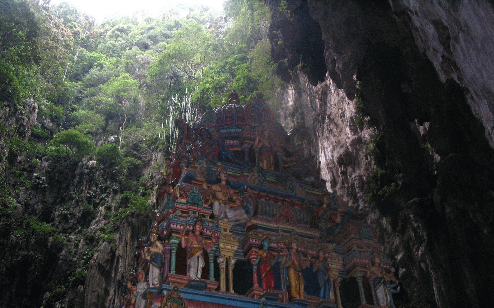 Batu caves in Malaysia.