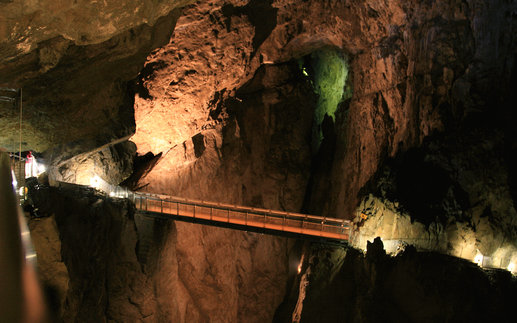 Bridge at Skocjan Caves in Slovenia.
