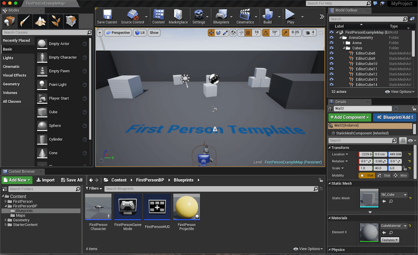 Tutorial getting to know the unreal editor hotgates malvernweather Image collections