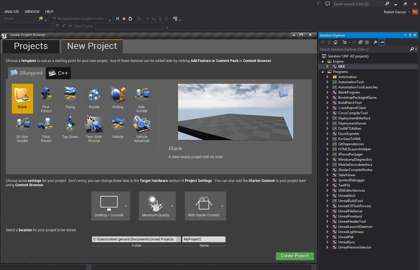 Tutorial - Downloading and compiling the Unreal Engine source code