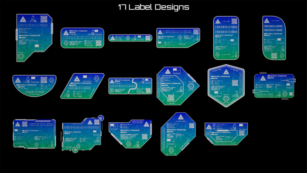 HG: Sci-Fi Cargo Labels Available Designs