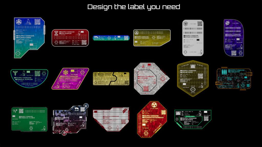 HG: Sci-Fi Cargo Labels possible designs