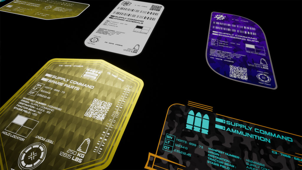HG: Sci-Fi Cargo Labels up close to show the high quality of the decals